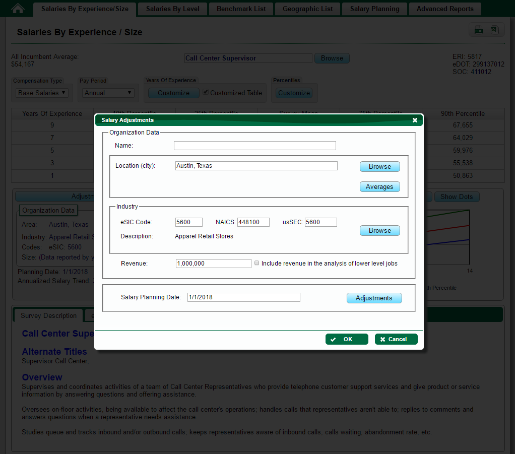 salary surveys planning eri economic research institute customize outputs to reflect specific situations
